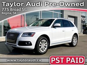2014 Audi Q5 2.0 Progressiv PST PAID, LOCAL TRADE, LOW KM