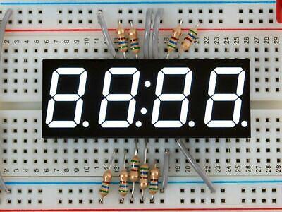 3dmakerworld Adafruit White 7-segment Clock Display - 0.56 Digit Height