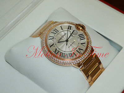 Cartier Ballon Bleu Large 18kt Rose Gold Diamond 42.1mm Automatic WE9008Z3