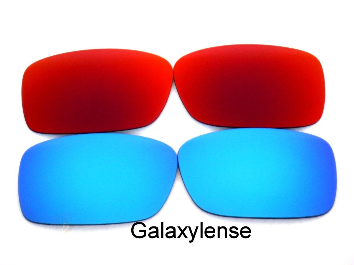fd295ae43db Galaxy Replacement Lenses For Oakley Crankcase Blue Red Polarized 2 Pairs