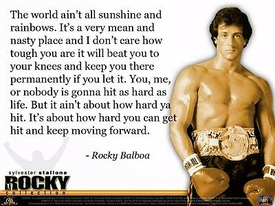 Rocky Balboa Motivational Quotes Art Silk Wall Poster 17 X13  004