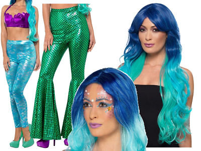 Mermaid Ariel Fancy Dress Costume Accessory Mermaids Tail Wig Make Up (Ariel Kostüm Make Up)