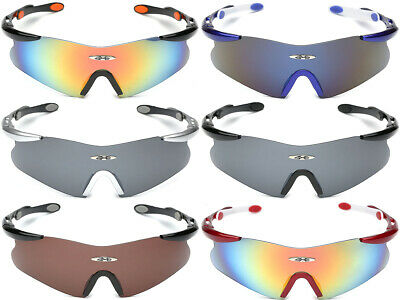 Oversized Sport Baseball Cycling Ski Surf Biker Glasses Men's Shield Sunglasses (Bikers Glasses)