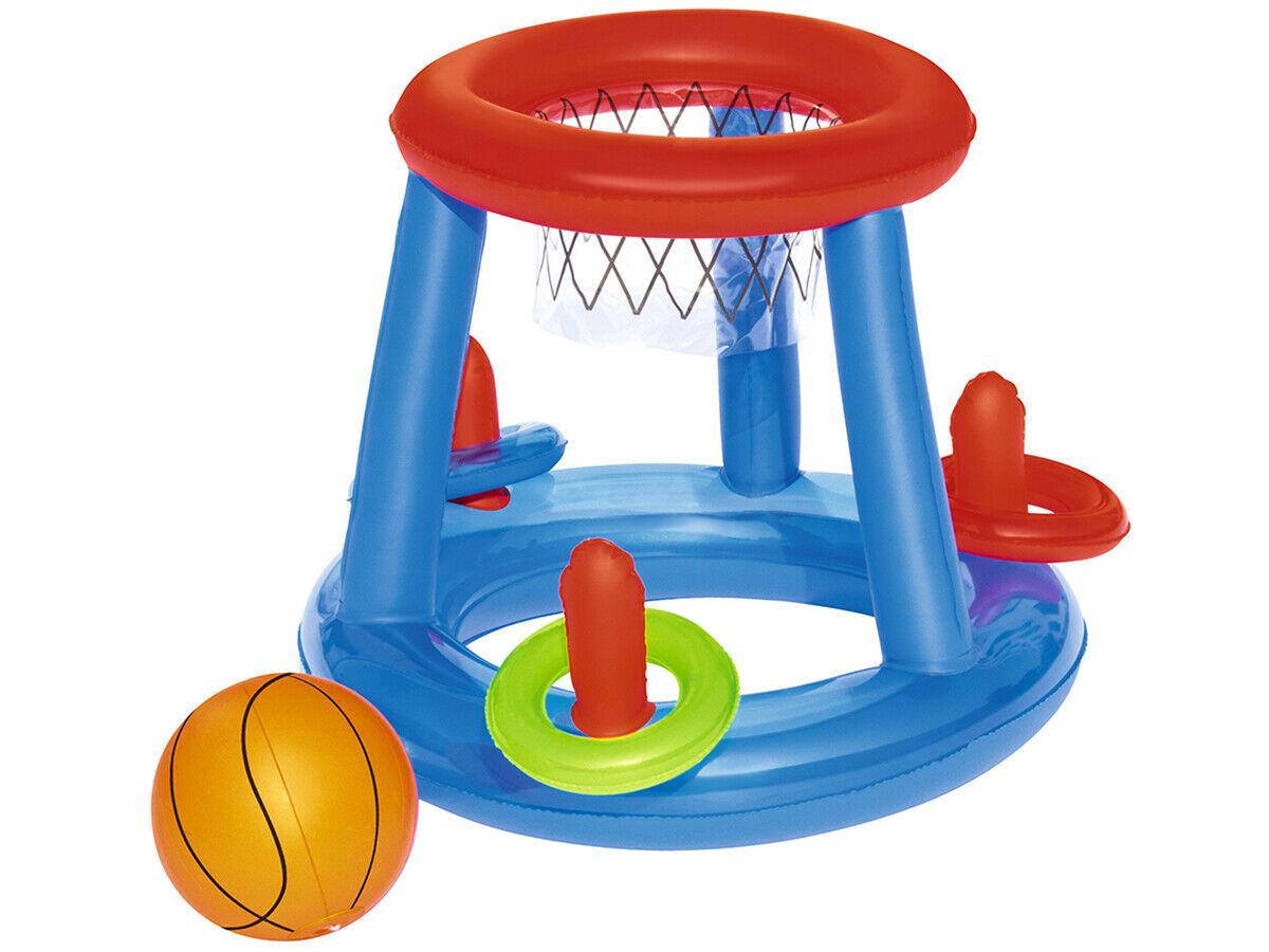 Bestway 43103 Aufblasbares Spieleset Basketball Schwimmendes Poolspiel 5266
