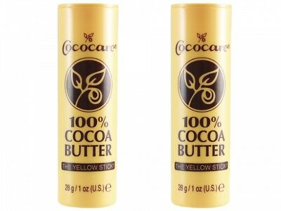 (14,27€/100g) Cococare ★ 100% Kakaobutter Pflegestick ★ (2 x 28g) Cocoa