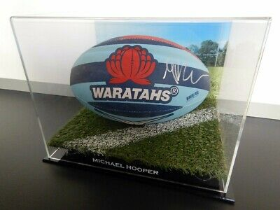 ✺Signed✺ MICHAEL HOOPER NSW Waratahs Football PROOF COA Wallabies 2021 Jersey image