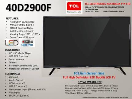 Brand New TCL 40 FHD TV