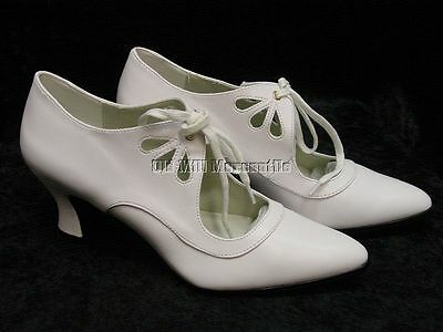 Edwardian Downton Abbey 1920's 1930's flapper Vintage style cream shoes 6-12 - Ladies Shoes 1920s