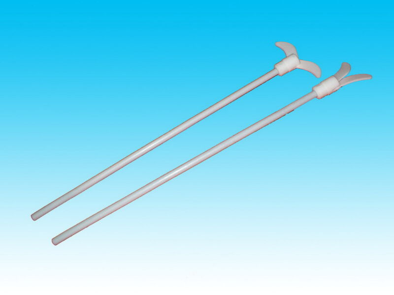 (one) Lab PTFE mixer stirrer 10mm shaft,900mm long  new