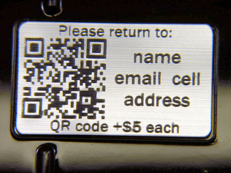 Your own Custom Engraved nameplate fits Pelican ™ 0915 0945 0955 0910 0950