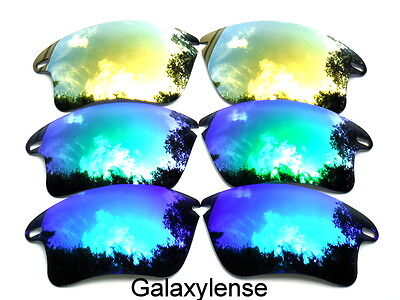 Galaxy Replacement Lenses For Oakley Fast Jacket XL Sunglasses Blue&Green&Gold  for sale  Shipping to India