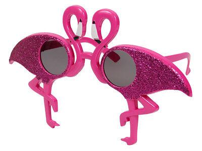 Partybrille 70er Jahre pink Spaßbrille Flamingo Sonnenbrille Funbrille Glitzer  ()
