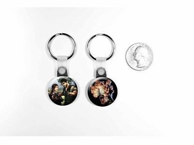 The Last of Us Joel Ellie Video Game Cordyceps Clicker Set of 2 Key Chains