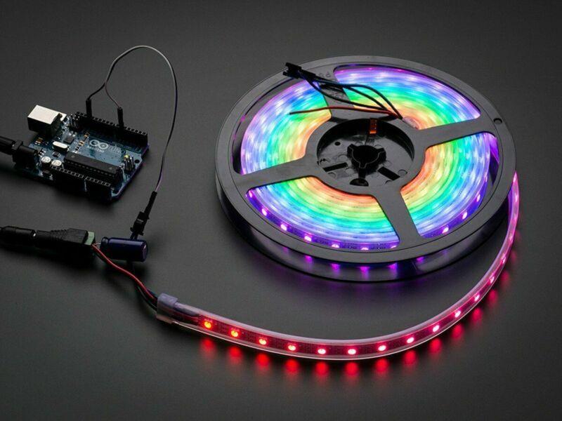 [3DMakerworld] Adafruit NeoPixel Digital RGB LED Strip - Black 60 LED - 1 meter