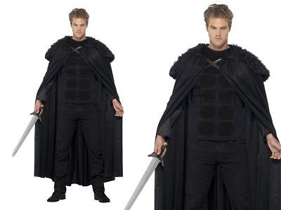 Game Of Thrones Kostüm Herren Dunkel Barbar Jon Schnee Kostüm Mantel - Jon Schnee Game Of Thrones Kostüm