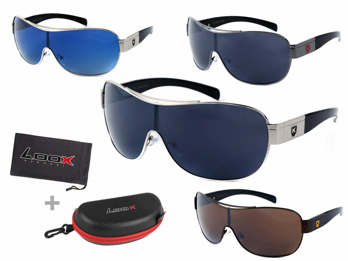 LOOX Sonnenbrille große Gläser Herren Damen Pilotenbrille Modell 104 Barbados