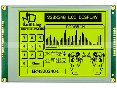 5.7yellow Green Color 320x240 Graphic Lcd Modulera8835 Optional Touch Panel