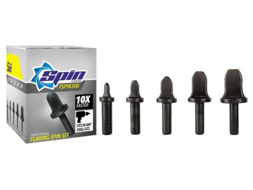 """FSPIN300 Flaring Tool Drill Bit Set With 1/4"""" 3/8"""" 1/2"""" 5/8"""" 3/4"""" Bits"""