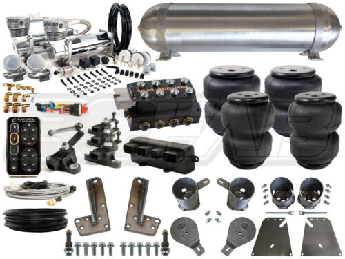 "Complete Air Ride Suspension Kit - 1958-1964 Chevy Impala 3/8"" Level 4 - Bcfab"