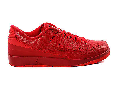 "Size 11 Men's Nike Air Jordan Retro 2 Low ""Gym Red"" 832819 606 Fashion Athletic"