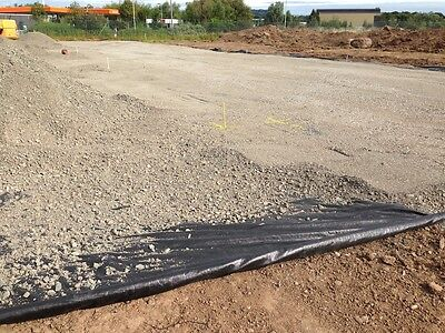 Geotextiles installed and aggregate compressed