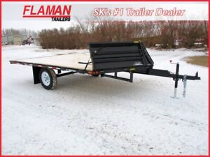 Trailtech 12' 2-Place Snowmobile/UTV Trailer - New Split Ramp!