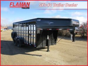 Travalong 16' Stock Trailer - Galvanized Siding!