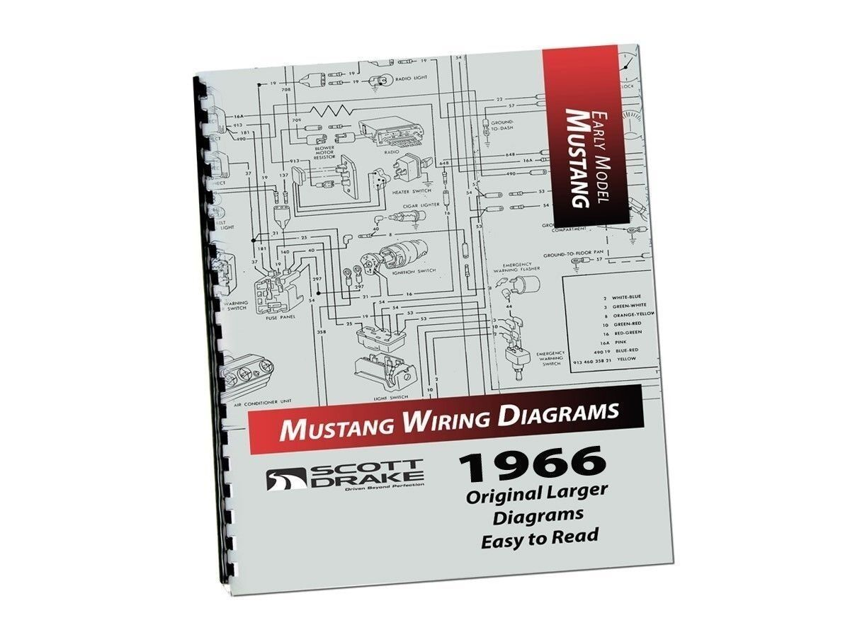 1966 Ford Mustang Pro Wiring Diagram Manual Large Format Exploded View Ebay
