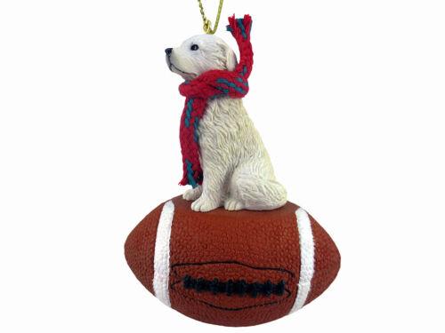 Great Pyrenees Dog Football Sports Figurine Ornament