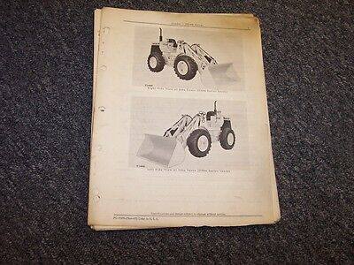 John Deere 544 Bulldozer Dozer Loader Original Parts Catalog Manual Pc1068