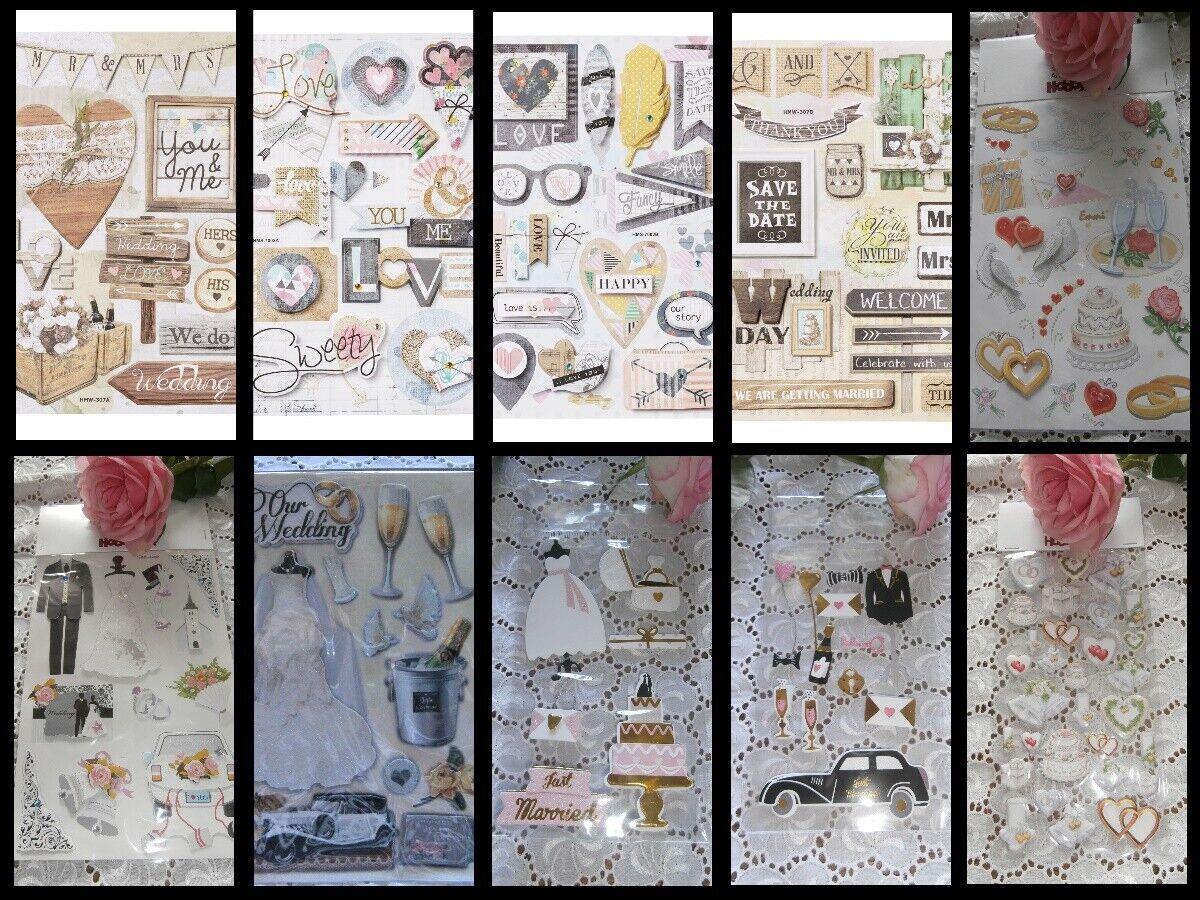 3D-STICKER Hochzeit Vintage Romantisch CREApop Hobbyfun 3D Herz Liebe Love