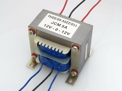 110/220VAC to 24VAC 5000mA 5A Center Tap Power Transformer 12V-0-12V 24VAC 12Vx2