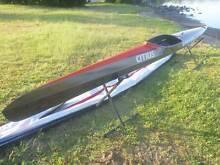 Citius Classic 44 Full Carbon K1 Marathon Racing Kayak in VGC Eleebana Lake Macquarie Area Preview