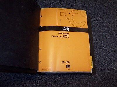 John Deere 850 Crawler Bulldozer Dozer Loader Parts Catalog Manual Pc1624