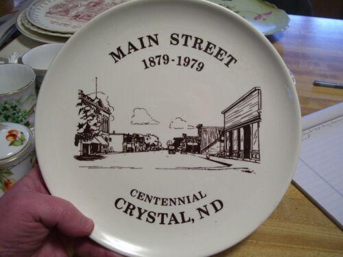 Vintage Crystal ND North Dakota Centennial Souvenir Plate