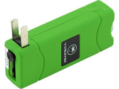 VIPERTEK VTS-881 35 BV Rechargeable Micro Mini Stun Gun LED Flashlight - Green