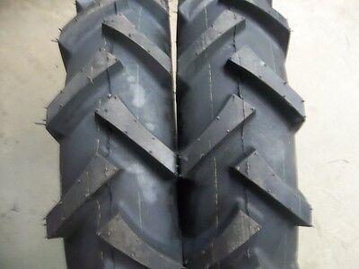 Four Tires 2 11.2x24  2 7x14 R1 Bar Lug Tractor Tires Wtubes