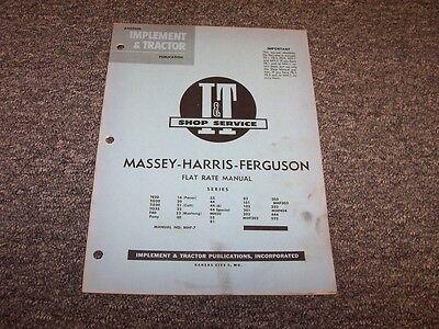 Massey Harris Ferguson 203 303 333 404 444 555 82 101 Tractor Flat Rate Manual