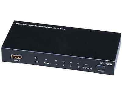 Monoprice 4X1 HDMI Switcher w/ Toslink & Digital Coaxial Por