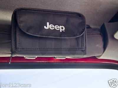 Jeep Wrangler Sunglass Holder / Storage Pouch w/ Logo 310RR152 MOPAR