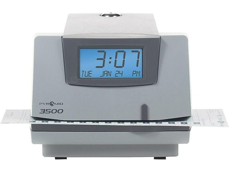 Pyramid Punch Card Time Clock System Light Gray/Charcoal (3500) 430286