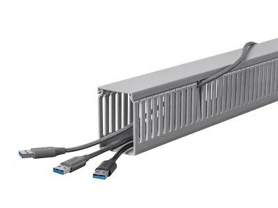 6 Feet Long Raceway Duct W Cover Open Slot Cable Cord Wire Management Pvc
