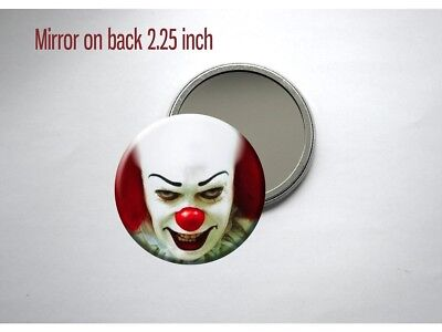 Scary Clown Mirror (Pennywise the Clown Scary Eyes Stephen King It Pocket/Purse)
