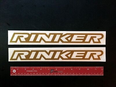 "2 (TWO)   RINKER  Boats Marine  Vintage Logo  Decals 12"" - NEW"