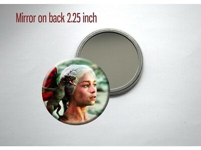 Game of Thrones Daenerys Mother of Dragons Pocket/Purse Mirror