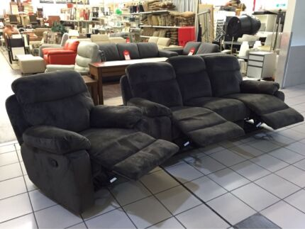 BRAND NEW! 3 SEATER LOUNGE WITH 2 RECLINERS + SINGLE RECLINER Logan Central Logan Area Preview