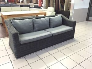 3 SEAT WICKER OUTDOOR SOFA Logan Central Logan Area Preview