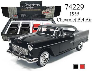 1955 Bel Air Hardtop (New Motormax 1/24 1955 CHEVROLET BEL AIR HARDTOP DIECAST MODEL CAR CHOOSE)