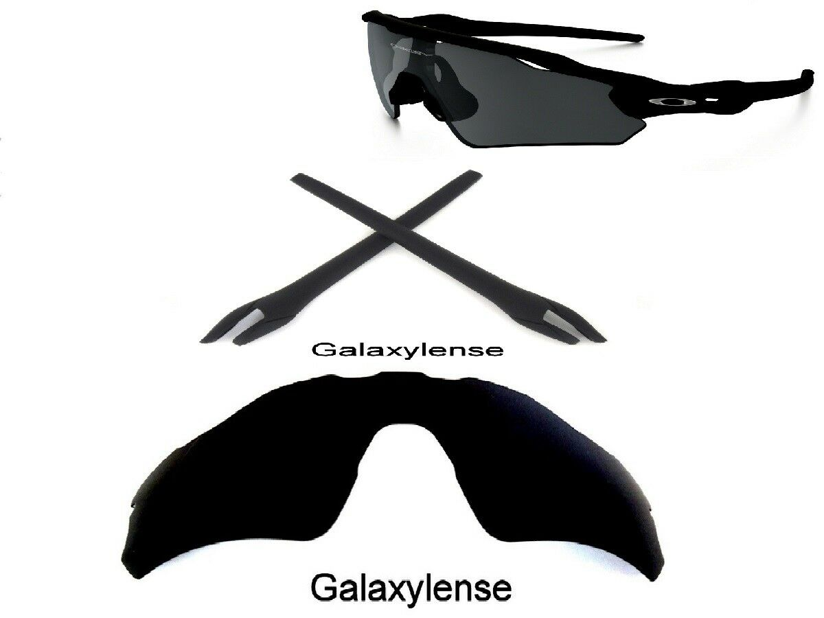 27bc24d5e6 Details about Galaxy Replacement Black Polarized Lens + Rubber Kits For  Oakley Radar EV Path
