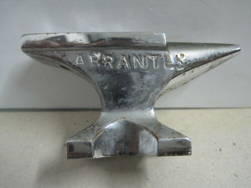 ANTIQUE MINIATURE ANVIL IN BRONZE ABRANTES FOUNDRY PORTUGUESE